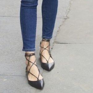 Aquazzura Christy Black Ballet Flats Size 38/8